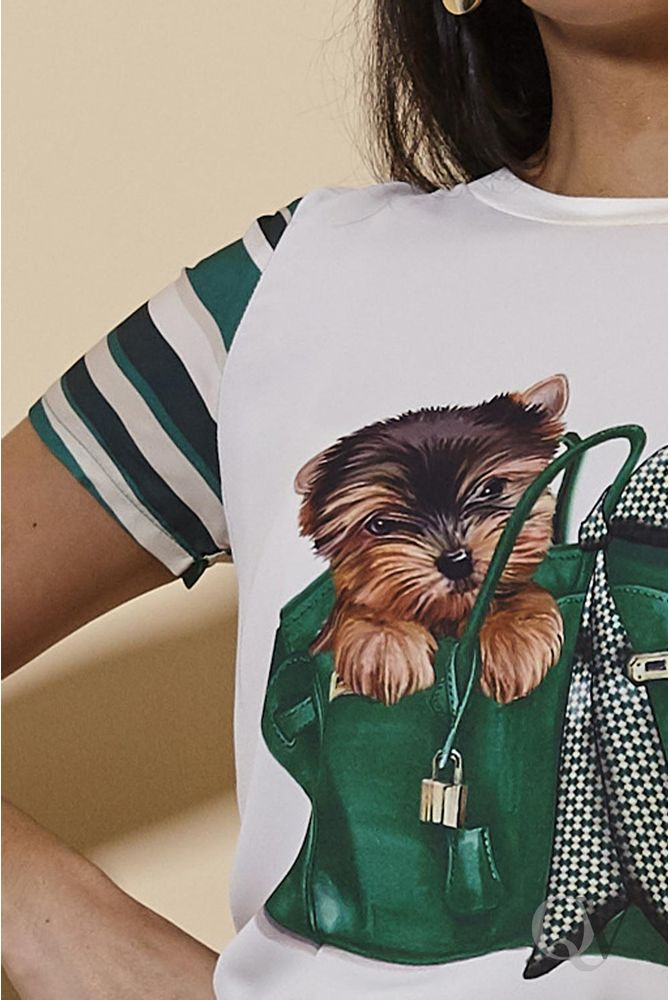 T-SHIRT-DOG-BAG-VERDE-ARTSY-C