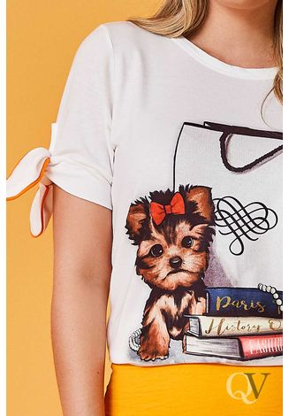 T-SHIRT-DOG-LACOS-MANGA-OFF-WHITE-ARTSY-B